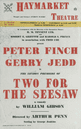 Haymarket Theatre. Two For The Seesaw. William Gibson. Peter Finch. Jedd 1958